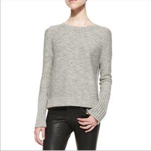 J BRAND Helms Knit Bateau-Neck Gray Sweater